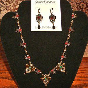 SWEET ROMANCE ...SET...Necklace & earrings NEW